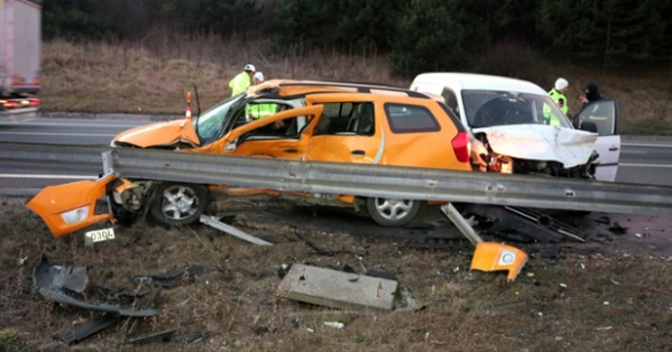 Anadolu Otoyolu'nda Trafik Kazası! 1 Ölü,1 Yaralı!