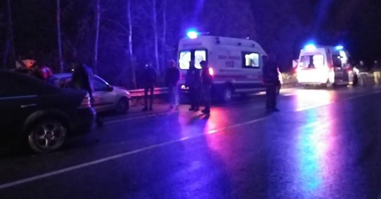 Sakarya'da Korkunç Kaza! 4 Yaralı