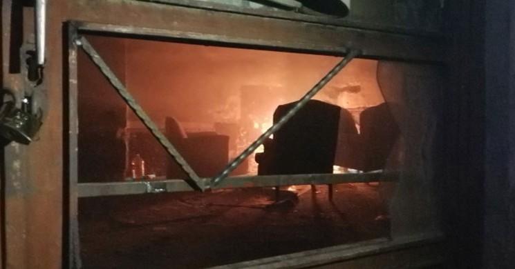 Alkol Alıp Ateş Yaktı, Boğulmak Üzereyken İtfaiye Kurtardı