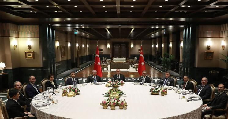 Cumhurbaşkanı Erdoğan, Yasama, Yürütme Ve Yargı Organlarının Temsilcileri İle Toplandı