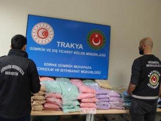 Edirne'de 100 milyon değerinde uyuşturucu operasyonu