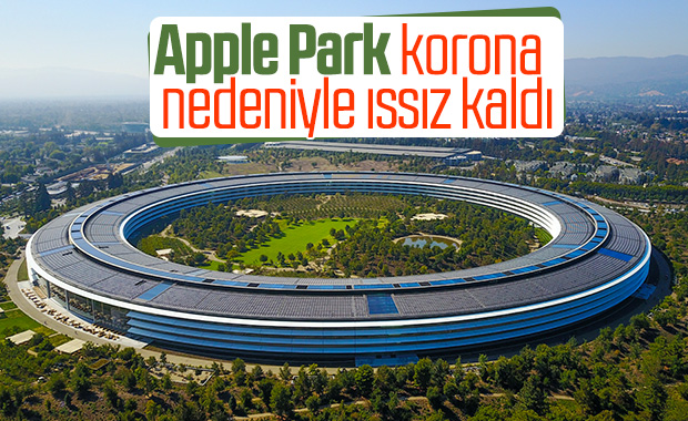 Apple Park, koronavirüs nedeniyle sessizliğe büründü Apple Park, koronavirüs nedeniyle sessizliğe büründü - VİDEO