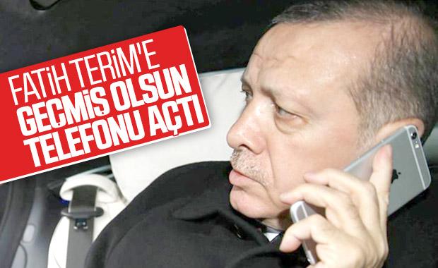 Cumhurbaşkanı Erdoğan Terim'i aradı