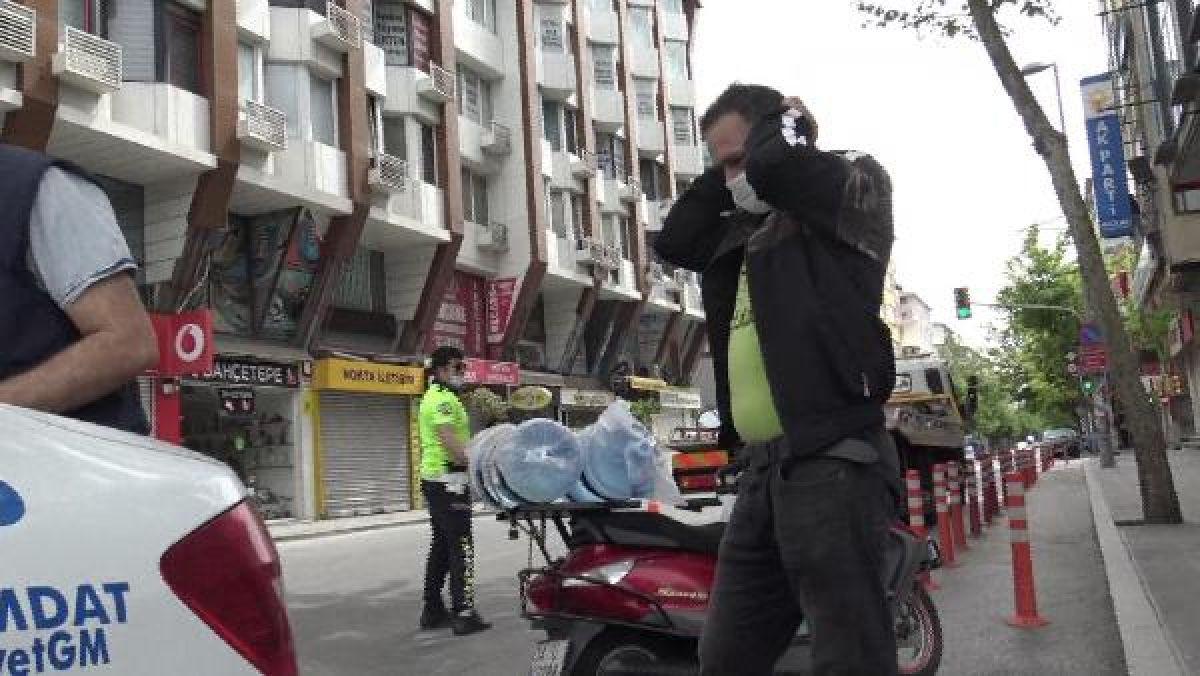 Sokağa çıkma kısıtlamasında motosiklet ile tur atarken yakalandı -3