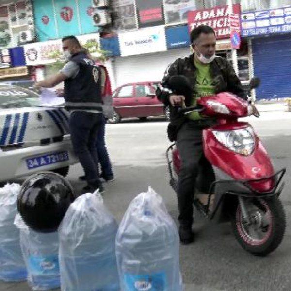 İstanbul'da sokak yasağında motosikletle tur atarken yakalandı
