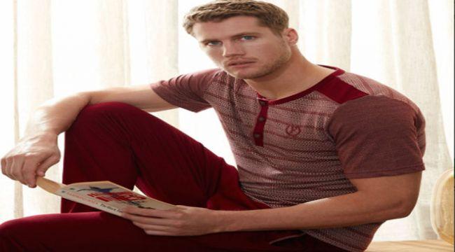 Kaliteli Erkek Pijama Seti İçin Pamuk Tenim