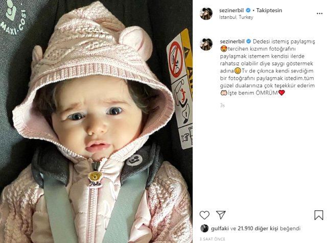 Mehmet Ali Erbil'in kızı Sezin Erbil, bebeğinin yüzünü ilk kez gösterdi