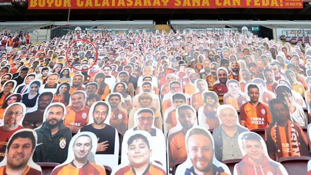 Galatasaray, karton taraftarlarının arasında unutulmaz basketbolcu Kobe Bryant'a da yer verdi