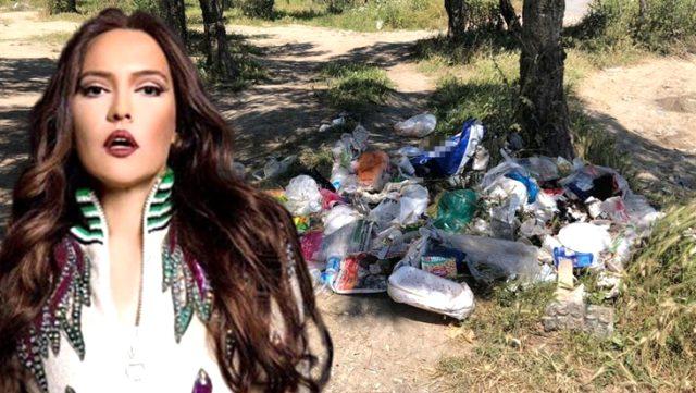 Şarkıcı Demet Akalın, parklardaki çöp birikintisi görüntülerine tepki gösterdi