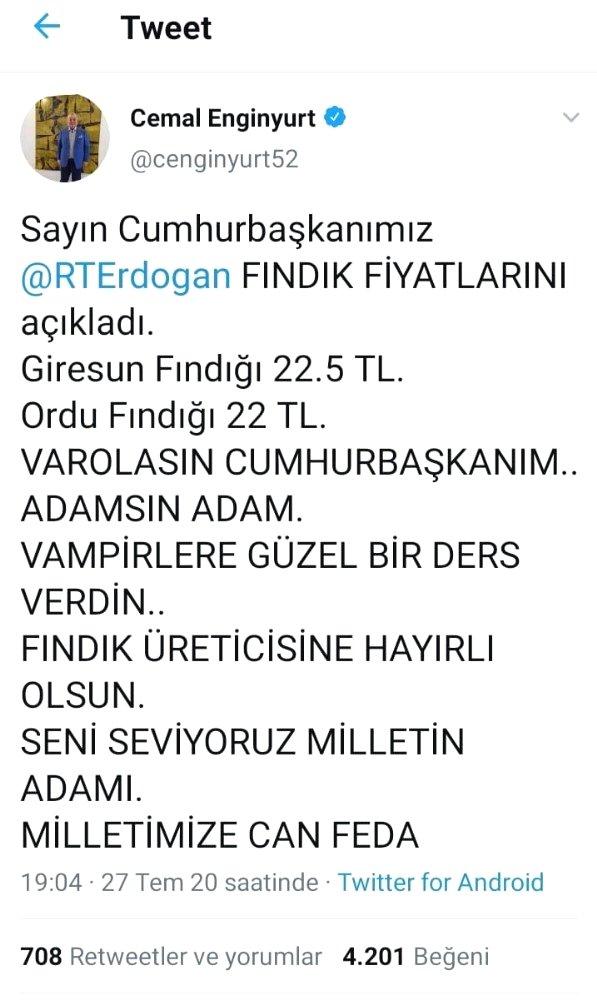 Ordulu üreticiler, Erdoğan'ın açıkladığı fındık fiyatlarından oldukça memnun