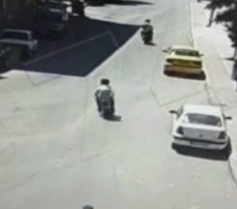 Ankara da motosiklet kazası kamerada #1