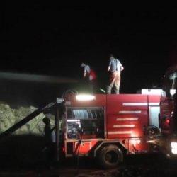 İzmir'de bir çiftlikte bulunan 3 ton saman yandı