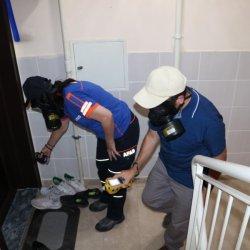 Sivas'ta temizliği abartan komşu, ekipleri alarma geçirdi