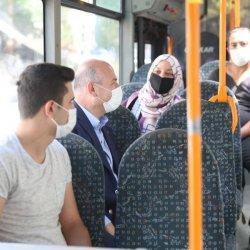 Süleyman Soylu, bakanlığa otobüsle gitti