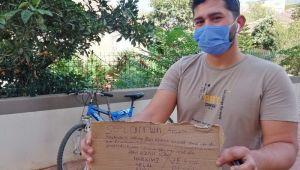 Çaldığı bisikleti 3 gün sonra özür ve af notuyla geri bıraktı