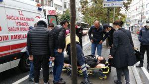 İstanbul Şişli'de kazada motosikletli yaralandı