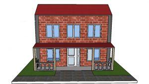 Minyatür Tuğlalar ile Ev Yapımı