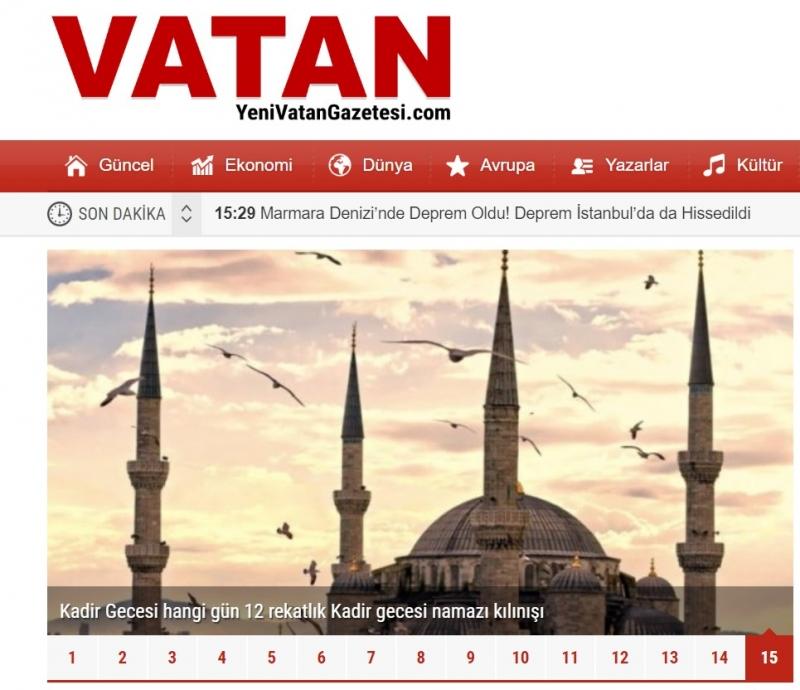 Haber Kaynağı Yenivatangazetesi.com